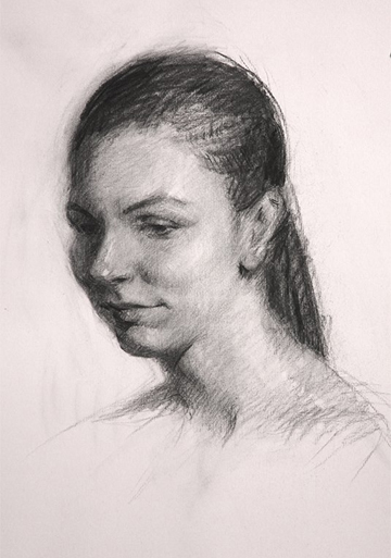 Abigail McBride Charcoal Portrait Demonstration at the Maryland Society of Portrait Painters' Annual Meeting