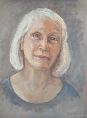 Portrait of Rita, 17x14, oil by Pat Roberie
